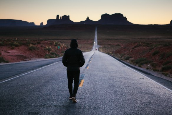 Student Alone on Path (2)